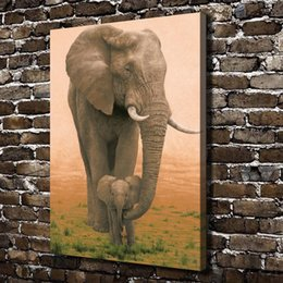 $enCountryForm.capitalKeyWord Australia - Elephant Mother Love,Home Decor HD Printed Modern Art Painting on Canvas (Unframed Framed)