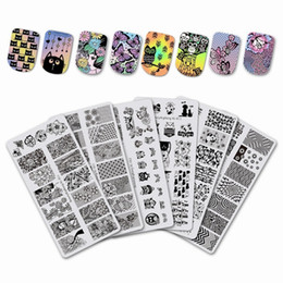 $enCountryForm.capitalKeyWord Australia - BeautyBigBang 6*12cm Animal Theme Rectangle Nail Stamping Plate Cat Dog Image Nail Art Stamping Plate For Nails