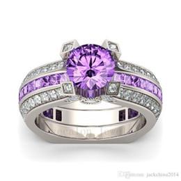 Amethyst fAshion jewelry online shopping - Victoria Wieck New Fashion Jewelry Sterling Silver Birthstone Amethyst Round Cut Gemstones Wedding Women Ring Size