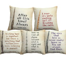 $enCountryForm.capitalKeyWord Australia - Vintage Harry Potter Quotes Letter Print Cushion Covers Retro Kraft Paper Style Cushion Cover Decorative Linen Cotton Pillow Case