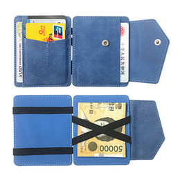credit card korea Australia - Pu Leather Clutch Slim Credit Card Slots Korea Creative Mini Purse Bifold Magic Money Clip Unisex Solid Small Wallet Women Men