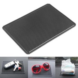 anti slip mats 2019 - Automobiles Silicone Gel Non-slip Pad Oval Round Rectangle Car Anti-slip Mat for Tablet Phone Mobiles MP3 MP4 Player Bla