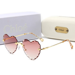 7525de9efb895 Top Quality Glass Lens Heart Frame Fashion Women Coating Sunglasses Summer  Designer Vintage Gradient Driving SunGlasses With Original Box