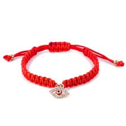 Изысканный браслет с красными нитями сглаза, красная веревка судьбы, браслет удачи, амулет, браслет из ниток, защитный браслет на Распродаже