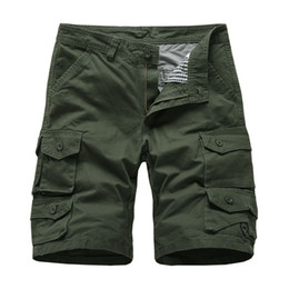 Wholesale free military clothing for sale – winter Mens Military Cargo Shorts Multi Pockets Casual Short Pants Plus Size Cotton Shorts Brand Clothing
