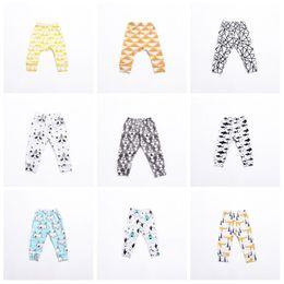 Kids Tights Boys Australia - Kids Pants Leggings INS 2019 Baby Gilrs Boys Cute Printed PP Skinny Pants Long Pants Tights Kids Clothing 21Colors Q166
