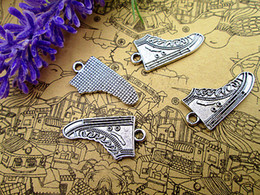 Running Charms Wholesale Australia - 15pcs--Running Shoe charms, Antique tibetan silver sports Shoes charm pendants, Sneakers, Athletic Shoes, Canvas shoes 28x14mm