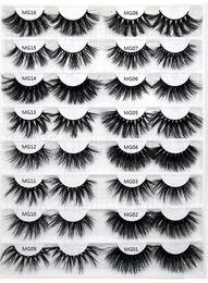 $enCountryForm.capitalKeyWord Australia - Top Long Dramatic Mink Lashes 5D Mink Eyelash 5D 25mm Long Thick Mink Lashes Handmade False Eyelash Eye Makeup Maquiagem LD Series 20 Styles