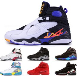 gold aqua 2019 - New 8 8s Three Peat Basketball Shoes for men fashion Mens countdown pack Chrome Valentines Day Aqua White Playoff Sports
