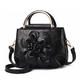 e90827056074 Women Leather Handbag Vintage Bucket Bags Embossing Printing Retro Designer  Floral Handbag 2019 Luxury Tote Bag High Quality