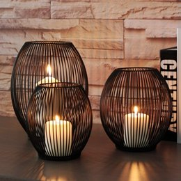 $enCountryForm.capitalKeyWord Australia - Morden Metal Hollow Out Candle Holder Articles Candlestick Hanging Lantern Home Decor Gifts Tb Sale SH190716