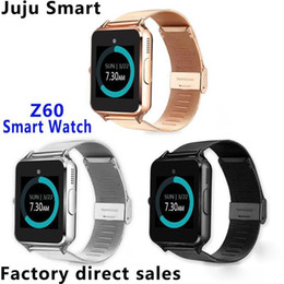 Smart Watches For Android Price Australia - factory price Smart Watch Z60 Smartwatches Stainless Steel Wireless Smart Watches Support TF SIM Card For Android IOS With Package