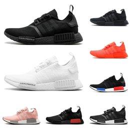 9581d2948dba7 NMD R1 running shoes for men women OG triple black white japan SOLAR RED  grey mens trainer breathable sports sneakers runner