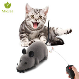 Toy Mice For Kids Australia - New Hot Pet Toys Electronic Remote Control Mouse Pet Cat Dog Toy Lifelike Funny Flocking Rat Gift Toy For Cat Puppy Kids