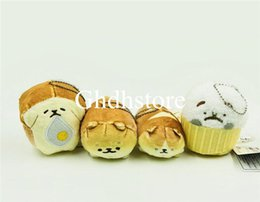 "figure cake NZ - Top New 4 Styles 3.5"" 9CM Corgi Shiba Inu Dog Bread Cake Shape Dog Plush Doll Anime Collectible Keychains Pendants Best Gifts Stuffed Toys"