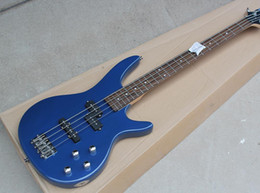 Discount dot string - 2018 Factory Custom Blue 4 Strings Electric Bass Guitar,Chrome Hardwares,Rosewood Fingerboard,Dots Frets Inlay,Good Qual