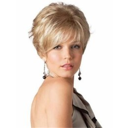 Blonde Short Hair Wig UK - Stylish Short Women Blonde Pixie Straight Synthetic Kanekalon Heat Resistant Cosplay Party Hair Full Wig Wigs