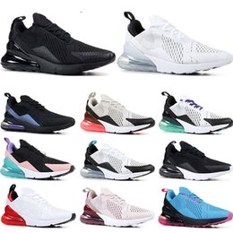 b32e467c44 nike air max 270 Mens Running Shoes Triple negro blanco EE. UU. Oreo BLACK  CROC hombres mujeres Entrenador transpirable calzado deportivo tamaño 36-45