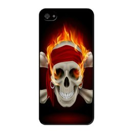 Cool Cases For Iphone 5s Australia - Cool Fire Skull Phone Case For Iphone 5c 5s 6s 6plus 6splus 7 7plus Samsung Galaxy S5 S6 S6ep S7 S7ep