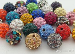 crystal multi flower necklace NZ - 100pcs lot m3532 best 10mm mixed multi color ball Crystal crystal Bead Bracelet Necklace Beads.Hot new beads Lot!Rhinestone DIY spacer