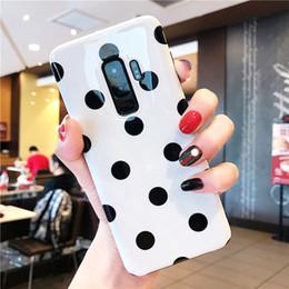 $enCountryForm.capitalKeyWord Australia - Fashion Phone Cases For Samsung Galaxy S10 S8 S9 Plus Note 8 9 Case White Black Polka Dot Shiny Soft Cover For Woman