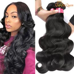 Queen cheap human hair online shopping - Gaga Queen A Peruvian Virgin Hair Body Wave Cheap Peruvian Brazilian Indian Malaysian Hair Human Hair Weaves Body Wave Bundles