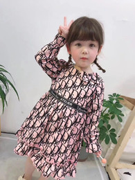 very popular ruffle brand girls clothes long sleeve letter print kids girls outfit on Sale