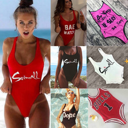 $enCountryForm.capitalKeyWord Canada - M&M Be Sexy Letter One Piece Swimsuit 2018 Padded Bathing Suits Women Summer Beach Swim Wear Monokini Tong Mailot De Bain Femme
