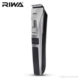 Discount one piece displays - RIWA Waterproof Hair Trimmer LCD Display Men's Hair Clipper Rechargeable One Piece Biuld-in Comb Design Haircut Mac