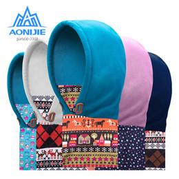 face covering hats Australia - AONIJIE Children Thermal Fleece Balaclava Face Cover Kids Ski Cap Mask Scarf Double Layered Winter Hat Running Cycling