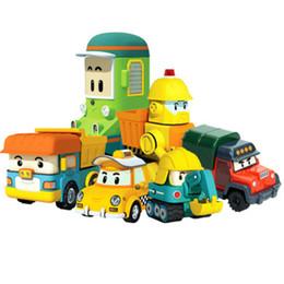 Toys police Truck online shopping - Silverlit Poli Vehicle Mini Hand Band Model RC Car Designs Ambulance Fire Truck Boy Cartoon Car Alloy Toy Deformed Police Car