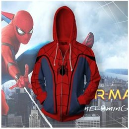 $enCountryForm.capitalKeyWord Australia - 3D Spider-Man Zip Up Hoodie Sweatshirts Long Sleeve Zipper Men woman Masked Spiderman SpiderHoodie Cosplay Sweatshirt JacketMX190902