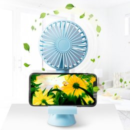 $enCountryForm.capitalKeyWord Australia - Portable Handheld USB Cooling Personal Fan With Phone Holder Stand 3 Adjustable Speeds Quiet With USB Cable For Office, Home
