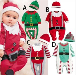$enCountryForm.capitalKeyWord Australia - Unisex Newborn Infant Baby Boys Girl Christmas Xmas Clothes Romper Hat Outfit Costume Toddler Cartoon Kids Clothes Sets