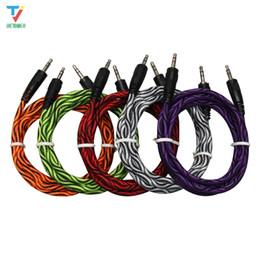 Vga Audio Cord Australia - wholesale-Durable 1.5m Python glue head audio cable 3.5 jack to jack aux cord 1.5m Headphone Speaker AUX Cable for iphone Car MP3 200pcs lot