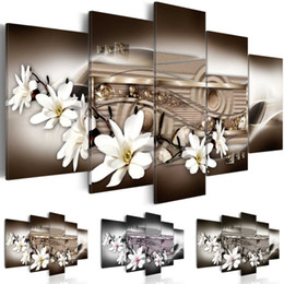 $enCountryForm.capitalKeyWord NZ - ( No Frame ) Abstract Magnolia Flower Canvas Art Print Modern Flower Floral Wall Painting Home Decoration Gift for Love, Choose Color & Size
