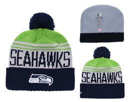 Knitted Cloche Australia - Men's Seattle Seahawks New Navy 2018 Sideline Cold Weather Official Sport Sideline Cold Weather Official TD Knit Hat