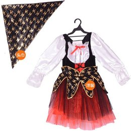Wholesale pirates halloween costumes for sale – halloween halloween costume for kids pirate captain jack sparrow costume girls child cosplay Carnival fancy dress