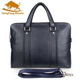 cell phone commercial 2019 - New Cowhide Male Commercial Briefcase Real Leather Waterproof Vintage Men Messenger Bag Casual Natural Cowskin Business