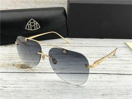 Top car logos online shopping - Top luxury men eyewear car brand Maybach fashion designer pilot rimless glasses top outdoor uv400 sunglasses G WI Z14 exquisite details logo