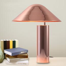 $enCountryForm.capitalKeyWord Australia - New Metal Base Aluminum Lampshade Table Lamp for Bedroom Desk Lamp Modern Simple Energy Saving Bedside Lampe de table