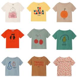 Baby Tees Australia - Bobo Choses 2019 Summer Baby Boys Girl T Shirt Cotton Tops Animal Short Sleeve Girls T-shirts Children Tees Kids Clothes J190529