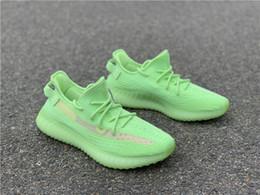 Shoes Glow Dark Women Australia - Best 2019 Authentic Kanye West 350S V2 EG5293 Glow In The Dark EG5293 Primeknit Men Women Running Shoes Sports Sneakers Designer Trainers