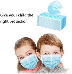 face mask for protection 2020 - Wholesale Qualified Disposable Face Mask Blue Child Face Masks Dustproof Masks Protection 14cm for Child Breath Safety c