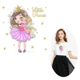 Hot Transfers For T Shirts Australia - Cute Unicorn Heat Painting Blonde Princess Hot Transfer Ironing Clothes Fashion for T-Shirt Dress 10 Pieces Hot Transfer