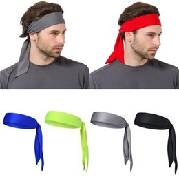 running head bands UK - Unisex Sports Running Basketball Yoga Head Tie Tennis Headband Sweatband 5 ColorSize  Chart Quality is the first with best service