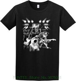 Black Cat Tee Australia - Women's Tee Cat Rock Black Crew Neck Short Sleeve Tshirt Letter Print Harajuku Punk Tshirt
