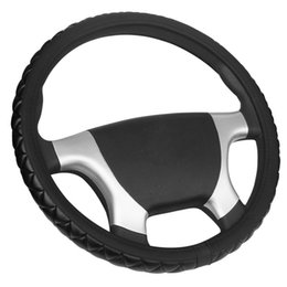 wheels 38 Australia - Soft Leather Car Steering Wheel Cover Diameters For 36 38 40 42 45 47 50CM 7 Sizes to Choose Auto Truck Car Steering-Wheel