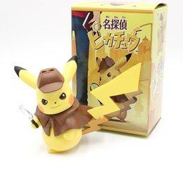 Figures Australia - New 4 Kinds Detective Pikachu Action Figures Cute Pikachu Collection Models 13-15cm Cartoon Movie Doll Toys Figura Figurine Kids Gift DHL