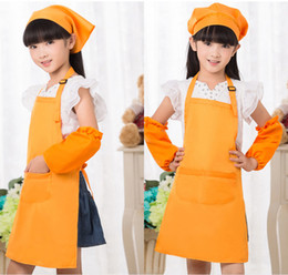 $enCountryForm.capitalKeyWord NZ - Kids Apron With Pocket Bib Baking Cooking Aprons Child Painting drawing Tablier Baby Pinafore Kitchen Toddler Clean Aprons